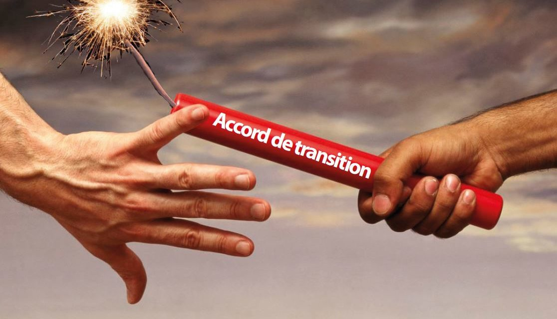 Signature majoritaire de l'accord de transition