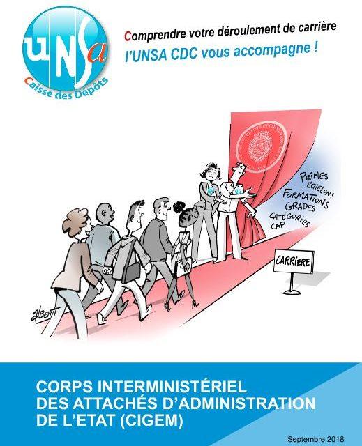 Guide carrière UNSA catégorie A