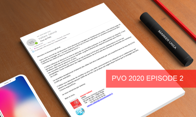 PVO 2020 : La Direction clarifie ses intentions