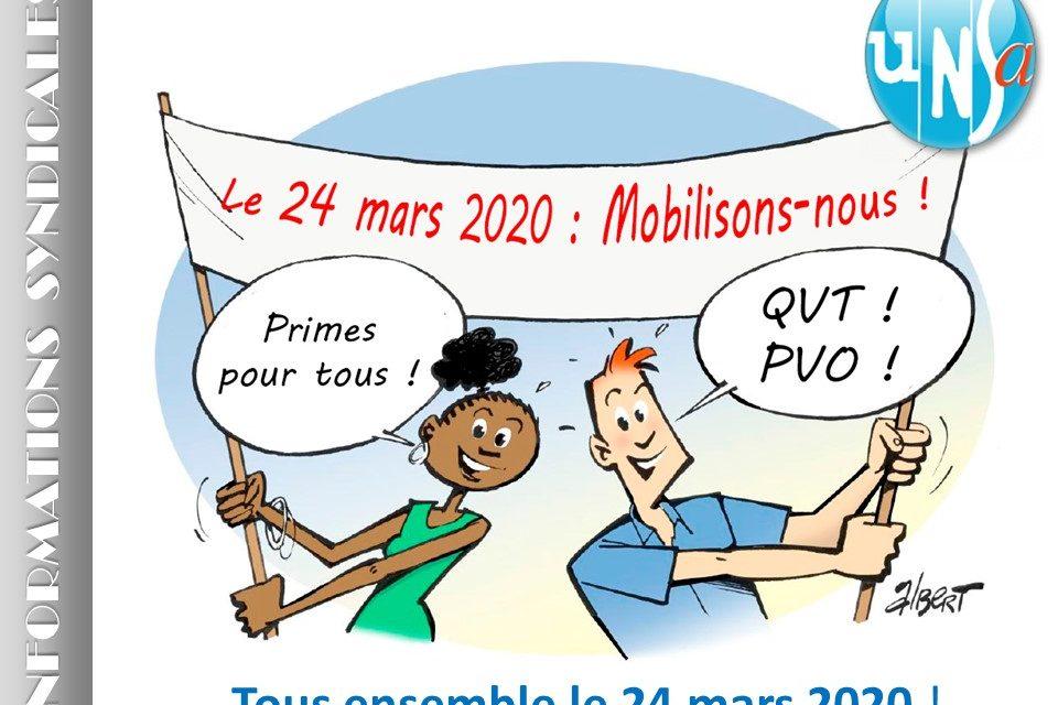 Suspension des rassemblements prévus le 24 mars 2020