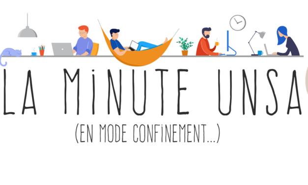 La minute de l'UNSA n°29 – le télétravail grand gagnant du confinement