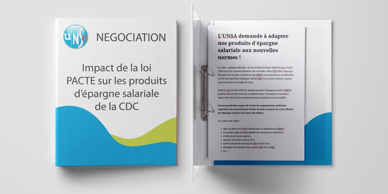 L'UNSA demande à adapter nos produits d'épargne salariale aux nouvelles normes !