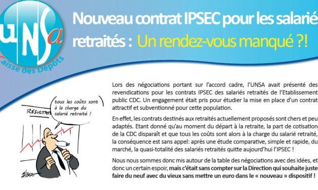 Contrat IPSEC retraités : la Direction refuse de faire un effort financier