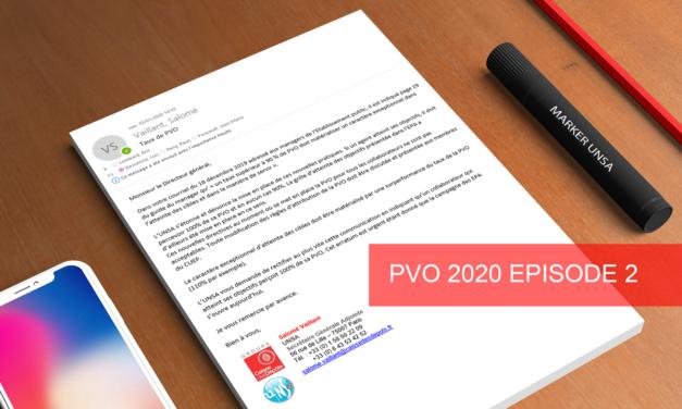 PVO 2020 : La Direction clarifie ses intentions