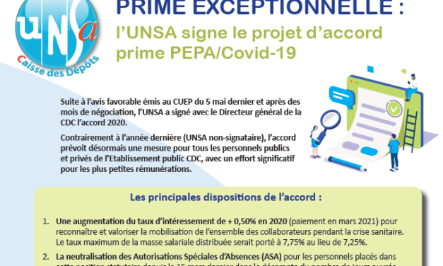 Tribune syndicale UNSA – Mai 2020