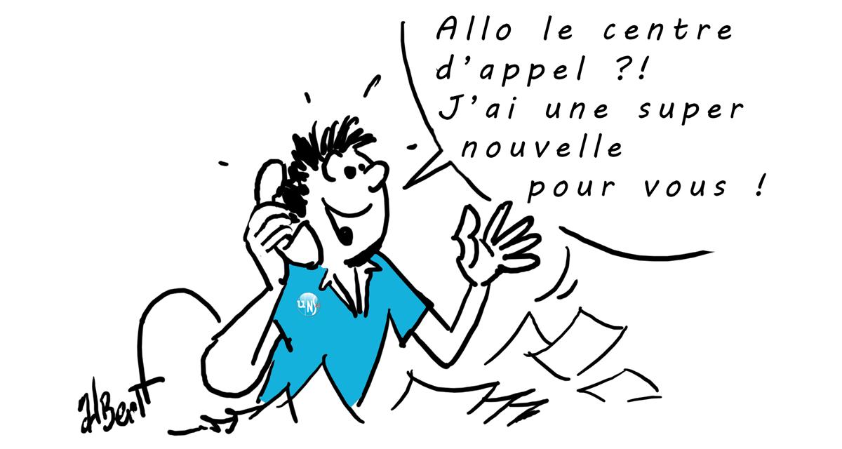 L'UNSA obtient l'application en TOD de l'EIS du centre d'appel DRS Angers !
