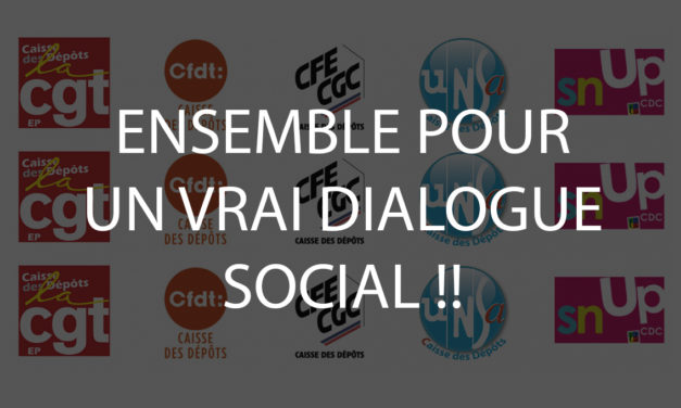 INTERSYNDICALE : DEGRADATION DU DIALOGUE SOCIAL